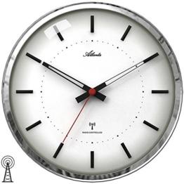 Atlanta Funk-Wanduhr, schleichende Sekunde, Mineralglas, Durchmesser ca. 30 cm - 1