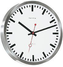 Bahnhofs-Funkuhr mit Edelstahlgehäuse – (30471-000870) - 1