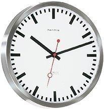 Bahnhofs-Funkuhr mit Edelstahlgehäuse - (30471-000870) - 1