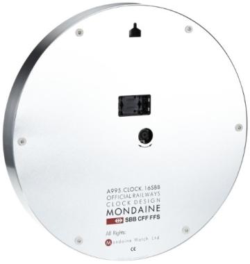Mondaine Round Wall Clock 40 Cm Diam., A995.CLOCK.16SBB - 2