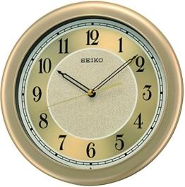 Seiko Wanduhr analog Kunststoff gold QXA592G - 1