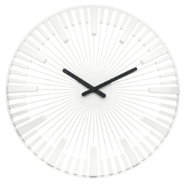 Koziol Piano, Wanduhr, Uhr, Quarzuhrwerk, Dekoration, Solid Weiß, 2340525 - 1