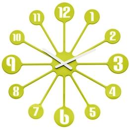 Koziol Pinball, Wanduhr, Uhr, Quarzuhrwerk, Dekoration, Solid Senfgrün, 2341582 - 1