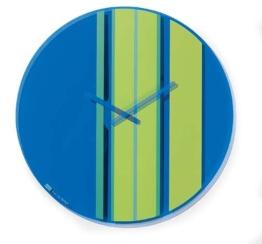 Koziol Wanduhr M STRIPES  blau - 1