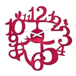 Koziol Wanduhr Pi:p (Rot, Himbeere) - 1