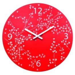 Koziol Wanduhr Rosi Rot mit Druck 2322536 - 1