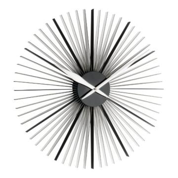 design wanduhr xxl 50cm tfa dostmann 60302301 daisy moderne auaergewahnliche form schwarz transparent wanduhrenshopde wohnzimmer vintage