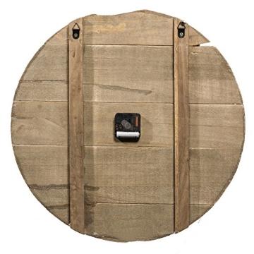 wanduhr analog holz quarzuhrwerk xxl 52 cm braun schwarz. Black Bedroom Furniture Sets. Home Design Ideas