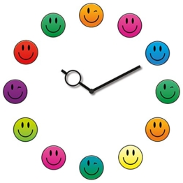 Eurographics U-DT7155 Time Art Smiley Clock, 30 x 30 cm - 1