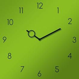 Eurographics U-GREEN3030 Uhr Green Uhren Glas 30 x 30 x 3,5 cm, grün - 1