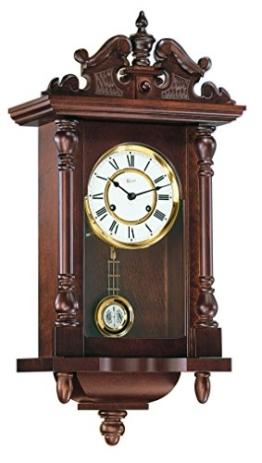 Hermle Uhrenmanufaktur 70091-030141 Pendelwanduhr Regulateur, nussbaum - 1