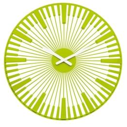 Koziol Piano, Wanduhr, Uhr, Quarzuhrwerk, Dekoration, Solid Senfgrün, 2340582 - 1