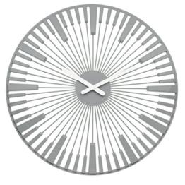 Koziol Piano Wanduhr, Uhr, Quarzuhrwerk, Dekoration, Cool Grey, H 45 cm, 2340632 - 1