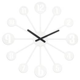 Koziol Pinball, Wanduhr, Uhr, Quarzuhrwerk, Dekoration, Solid Weiß, 2341525 by Koziol - 1