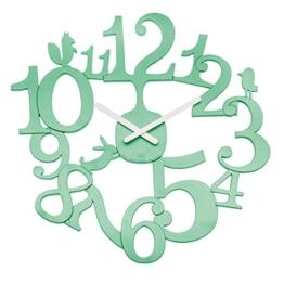 Koziol [pi:p] Wanduhr, Uhr, Quarzuhrwerk, Dekoration, Mint, H 44.5 cm, 2327634 - 1