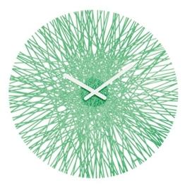Koziol Silk Wanduhr, Uhr, Quarzuhrwerk, Dekoration, Transparent Mint, H 44.8 cm, 2328635 - 1