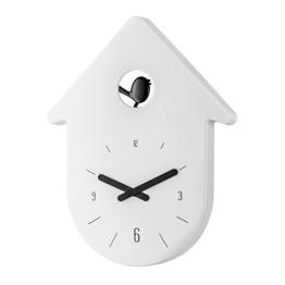 Koziol Toc-Toc Wanduhr, Uhr, Quarzuhrwerk, Solid Weiß mit Zeiger Schwarz, 2329101 - 1