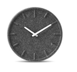 LEFF Amsterdam Uhr 35cm , Grau Uhr mit Weiss Hände - 1