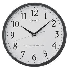 Seiko Unisex Wanduhren Kunststoff schwarz QXR210K - 1