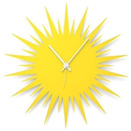 """Wandkings Wanduhr """"Sonne"""" aus Acrylglas, in 11 Farben erhältlich (Farbe: Uhr = Gelb glänzend; Zeiger = Weiß) - 1"""