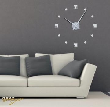 Wandtattoo Uhr Wanduhr Mit Uhrwerk Fr Wohnzimmer Modern Abstrakt
