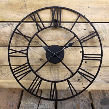 Wanduhr Metall Durchmesser 40cm Wanduhr Schwarz