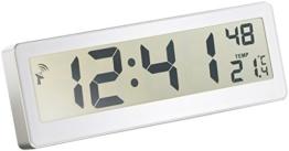 infactory Kompakte Funkuhr mit riesigem LCD-Display - 1