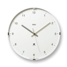 Lemnos T1-0117 North Clock, Große japanische Design-Wanduhr mit klarem Ziffernblatt, weiß - 1