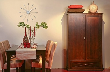 NeXtime 2610 zi Wall Clock Plug Inn, 60 cm metal / silver - 7