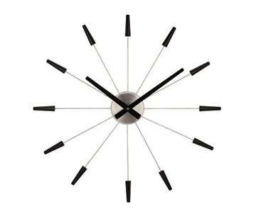 NeXtime 2610 zw Wall Clock Plug Inn, 60 cm metal / black - 1