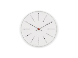 Rosendahl Wanduhr AJ Bankers Clock 480 - Ø 48 - weiß Arne Jacobsen, Aluminium, Mineralglas - 1