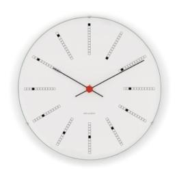 Rosendahl Wanduhr AJ Bankers Clock 210 - Ø 21 - weiß Arne Jacobsen, Aluminium, Mineralglas - 1