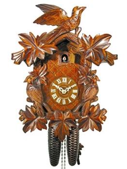 Schwarzwälder Kuckucksuhr/Schwarzwald-Uhr (original, zertifiziert), 8-Tage-Werk, mechanisch, 7 Laub, 3 Vogel, Kukusuhr, Kukuksuhr, Kuckuksuhr (schönes Weihnachts-Geschenk) - 1