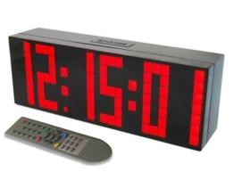 ZJchao(TM) LED Wanduhr Digitale Datum Temperaturanzeige mit Fernbedienung (rot) - 1