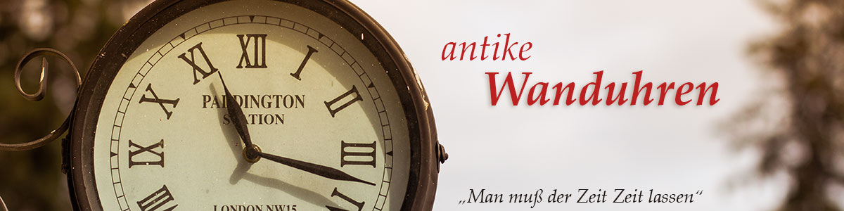 Wanduhren antiker Optik