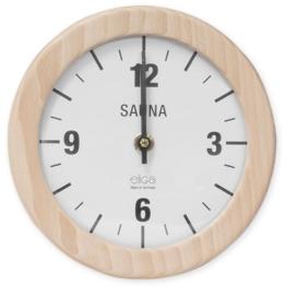 Saunauhr Wanduhr elektrisch Sauna Uhr rund 210 mm - 1