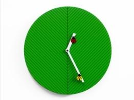 Kinderwanduhr Time2Bugs - fröhliche Kinderzimmer-Wanduhr mit Marienkäfern von Progetti - grüne Kinderuhr -