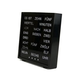LED Wort Uhr Tischuhr Wanduhr Deutsch -
