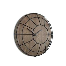 Umbra 118441-048 Wall Display Cage Wanduhr, Küchenuhr, Wohnzimmeruhr mit metallgestell, Holz / metall, Walnuss / schwarz -