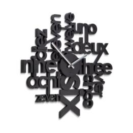 Umbra 118990-040 Lingua Wall Clock, schwarz -