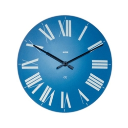 "14.17"" Firenze Wall Clock Color: Blue by Alessi -"