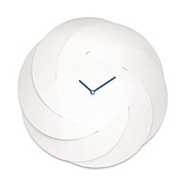 Alessi ABI10 W Wanduhr Infinity, Edelstahl, weiß, 16.3 x 2.067 x 6 cm -