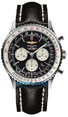Breitling Herren-Armbanduhr Chronograph Automatik Leder AB012721/BD09/441X -