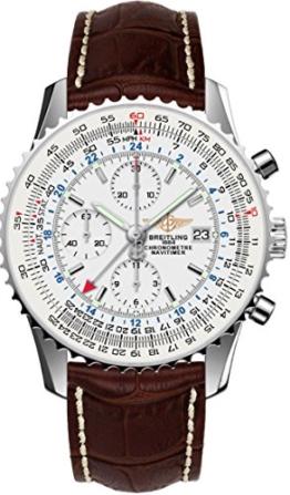 Breitling Herren-Armbanduhr Navitimer Chronograph Automatik Leder AB044121/G783/443X -