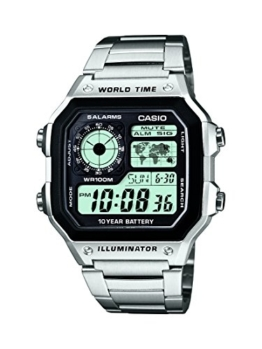 Casio Herren-Armbanduhr Digital Quarz Edelstahl AE-1200WHD-1AVEF -