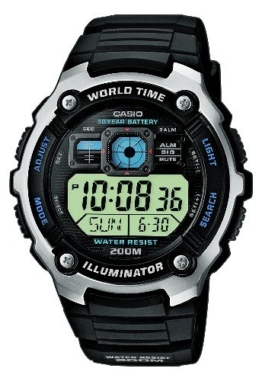 Casio Herren Armbanduhr Violett Resin W-215H-6Avef -