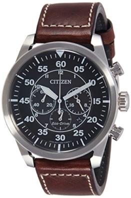 Citizen Herren-Armbanduhr XL Chronograph Quarz Leder CA4210-16E -