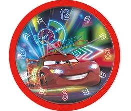 Disney Cars Wanduhr Kinderuhr (301637), Durchmesser 25 cm, rot/ blau -