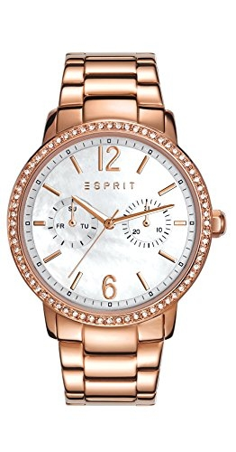 Esprit Damen-Armbanduhr Kate Analog Quarz Edelstahl beschichtet ES108092003 -