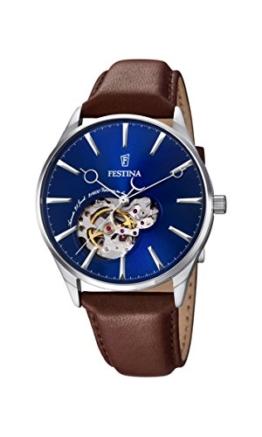 Festina Herren-Armbanduhr Analog Automatik Leder F6846/3 -